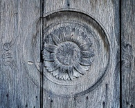 Front door wood carving